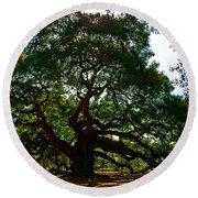 Angel Oak Tree 2004 Round Beach Towel