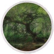 Angel Oak Tree - Arrington Vineyard Round Beach Towel