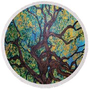 Angel Oak Young Round Beach Towel