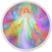 Angel Of Forgiveness And Compassion Round Beach Towel