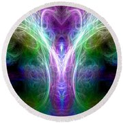 Angel Of Healing Round Beach Towel