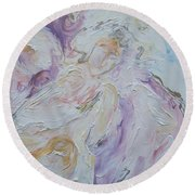 Angel Of Messages Round Beach Towel