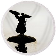 Angel Of The Waters #5 Round Beach Towel