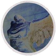 Angel Wing - #4 Round Beach Towel