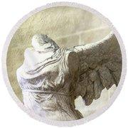 Angel Wing - #6 Round Beach Towel
