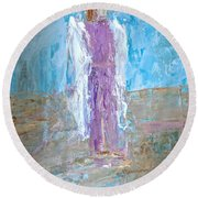 Angel With Confidence Round Beach Towel