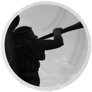 Round Beach Towel featuring the photograph Angelical Sound Trumpet by Beto Machado