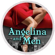 Angelina And Men Round Beach Towel