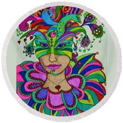 Angelique Round Beach Towel