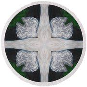 Angel's Cross Round Beach Towel by Maria Watt