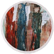Angels Of The Night Round Beach Towel