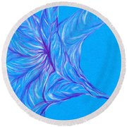 Round Beach Towel featuring the photograph Angel's Trumpet by Kim Sy Ok