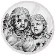 Angels With Dirty Faces Round Beach Towel