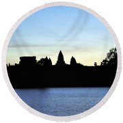 Angkor Sunrise 1 Round Beach Towel