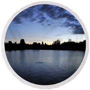 Angkor Sunrise 2 Round Beach Towel