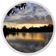Angkor Sunrise 3 Round Beach Towel