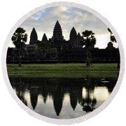 Angkor Wat 2 Round Beach Towel
