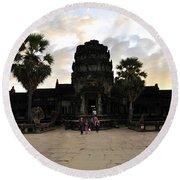 Angkor Wat 3 Round Beach Towel