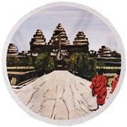 Angkor Wat Round Beach Towel