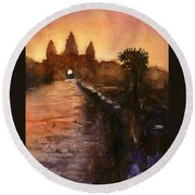 Angkor Wat Sunrise 2 Round Beach Towel