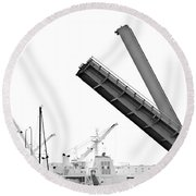 Round Beach Towel featuring the photograph Angle Of Approach by Stephen Mitchell