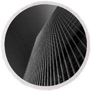 Angles Round Beach Towel