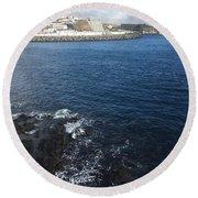 Angra Do Heroismo, Azores Round Beach Towel