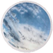Angry Clouds Round Beach Towel by Susan Stone