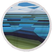 Angular Lake Round Beach Towel