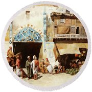 Angurie In Cortile Round Beach Towel