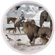 Animal Kingdom Round Beach Towel