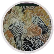Animal Print Floor Cloth Round Beach Towel