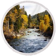 Round Beach Towel featuring the photograph Animas River by Kurt Van Wagner