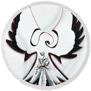Anishinaabe Thunderbird Round Beach Towel