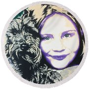 Anita Round Beach Towel by Victor Minca