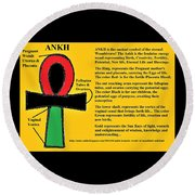 Ankh Meaning Round Beach Towel