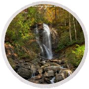 Round Beach Towel featuring the photograph Anna Rby Falls 3 by Penny Lisowski