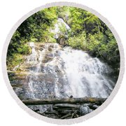 Round Beach Towel featuring the photograph Anna Ruby Falls by Jerry Battle