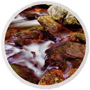 Anna Ruby Falls - Smith Creek 006 Round Beach Towel