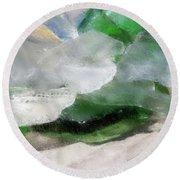 Round Beach Towel featuring the digital art Annabelle's Beach Glass by Aliceann Carlton