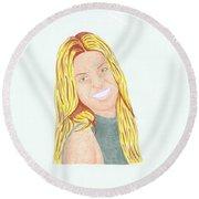 Annalynne Mccord Round Beach Towel