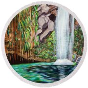 Annandale Waterfall Round Beach Towel