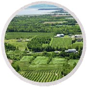 Annapolis Valley, Nova Scotia Round Beach Towel