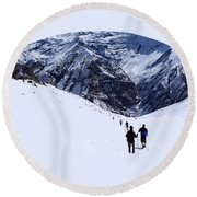 Annapurna Sanctuary Round Beach Towel
