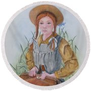 Anne Of Green Gables Round Beach Towel