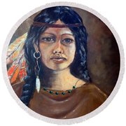 Anne Wolfe Round Beach Towel