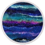 Anne's Abstract Round Beach Towel