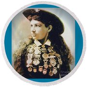 Annie Oakley - Shooting Legend Round Beach Towel