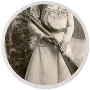 Annie Oakley With A Rifle Round Beach Towel