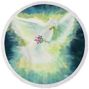 Anointed Round Beach Towel
